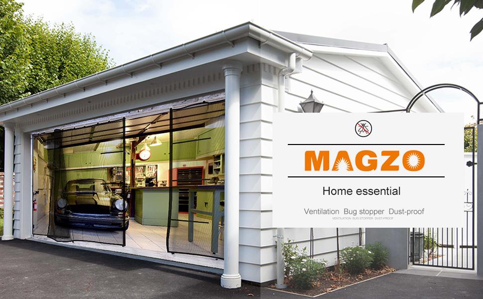 Amazon.com: Mosquitero para puerta de garaje, red de malla ...