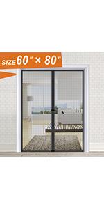 Black Bug Screen Door 60x80 inch
