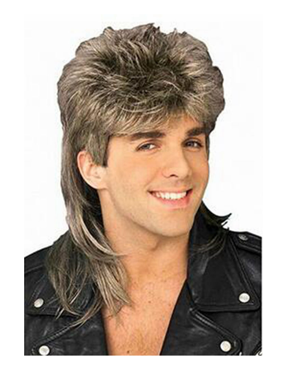 Amazon.com  Diy-Wig Stylish Mens Retro 70s 80s Disco Mullet Wig ... 8f9f135aa7b1