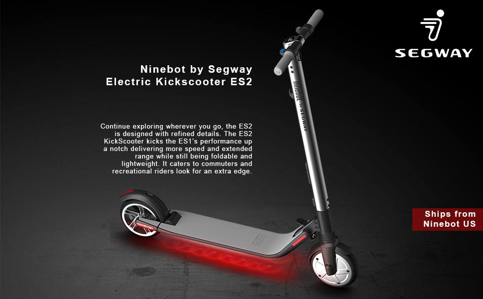 Amazon.com: Ninebot Segway ES2 - Patinete eléctrico de alto ...