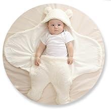Saco de Dormir Manta de Arrullo Cobija con Sombrero Unisexo Algod/ón para Bebes Recien Nacidos 0-3 meses Envoltura Swaddle Manta Manta Envolvente para Beb/é y Recien Nacido Saco
