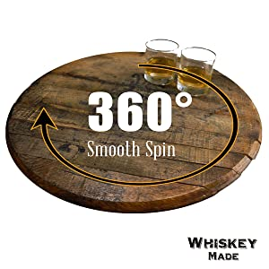 whiskeymade whiskey bourbon lazy susan trivet table decor kitchen rustic whisky tray swivel spin