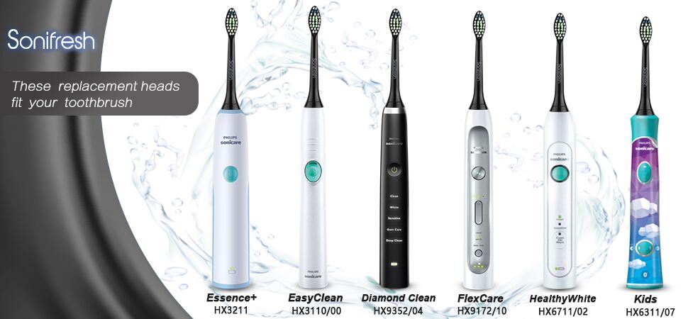 8 Replacement Electric Toothbrush Brush Heads For Philips
