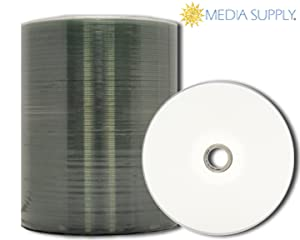 photograph regarding Printable Blank Cds titled MediaPro Blank CD - Experienced Quality White Inkjet Hub Printable CD-R - 100 Pack