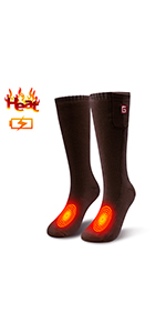 Christmas gift heated socks for men women foot warmer winter cold weather socks for outdoor sports