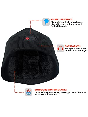 7.4V Heated Beanie Hat for Women Men Rechargeable Battery Heated ... 984b550a06d