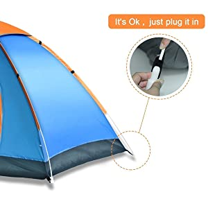 Tent Material 190T polyester fabrics. Bottom Material 210D Oxford fabric. Frame poles 6.9 mm high density fiberglass. Flysheet waterproof index 1500mm  sc 1 st  Amazon.com & Amazon.com : DKISEE Camping Tent 2 Person Instant Tent Waterproof ...