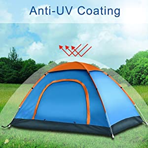 Tent Material and Technical Specification & Amazon.com : DKISEE Camping Tent 2 Person Instant Tent Waterproof ...