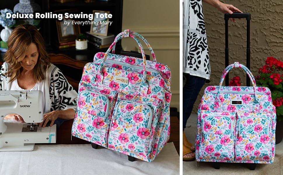 Beautiful sewing machine carry case