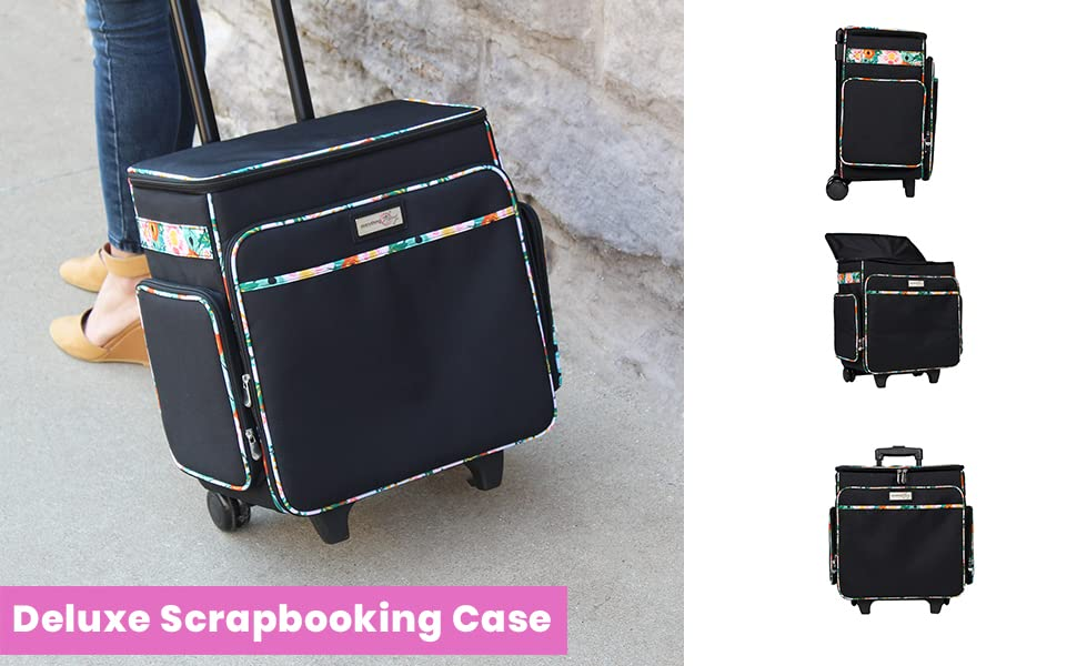 Rolling Scrapbooking Case for Crafting Scrapbooking quilting sewing