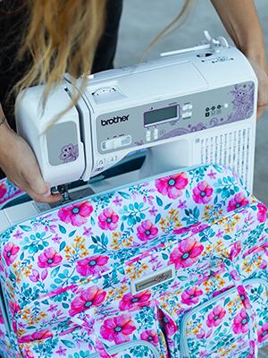 sewing machine teacher tote portable craft case