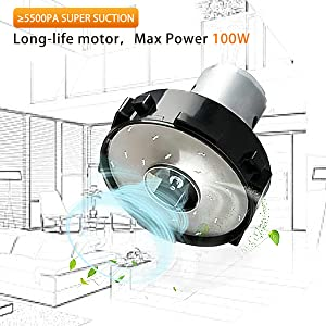 long-life motor Max power 100W