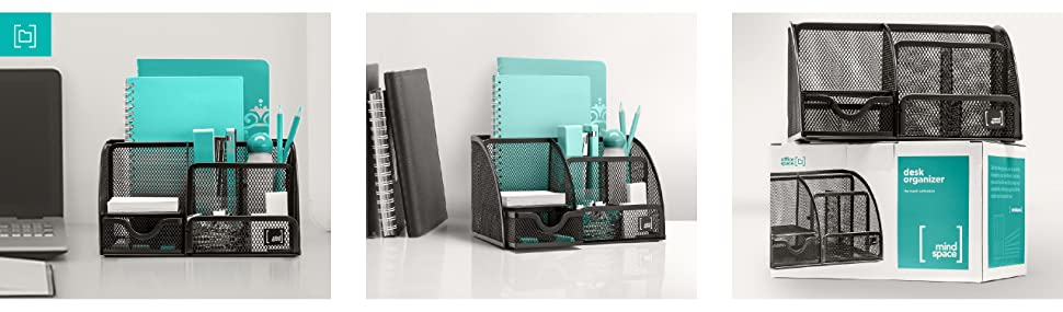 the mesh metal desk organizer from our mesh collection is designed to store your office consumables in an airy yet sturdy compact desk
