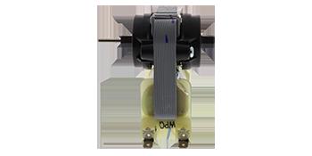 Side view of evaporator motor