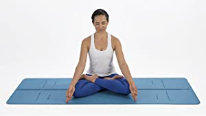 Liforme The EVOLVE Yoga Mat - Worlds Best Eco-Friendly, Non Slip Yoga Mat With ORIGINAL Unique Aligned Marker System. Available In Grey, Pink, Blue, ...