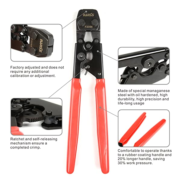 IWISS PEX Cinch Clamp Crimping Tool for Stainless Steel Clamps Sizes ...