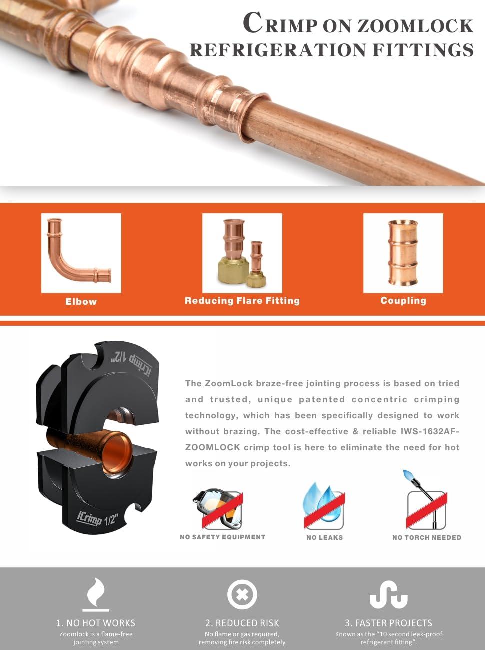 Iwiss Icrimp Plumbing Pressing Tool Kit Works For Zoomlock