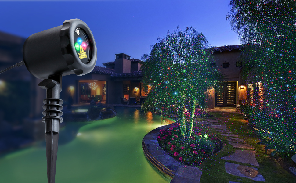 Amazon.com: Outdoor Laser Light Projector MYCARBON Christmas Laser ...