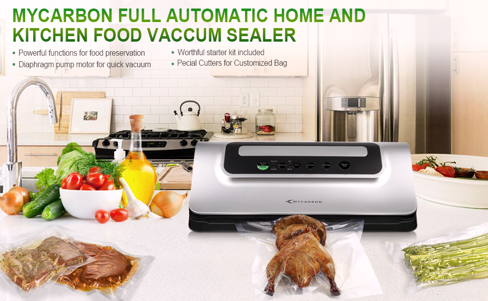 mycarbon vacuum sealer machine with cutter vacuum sealing systerm food saver automatic u0026 handheld sealer vacuum packaging machine dry and moist food