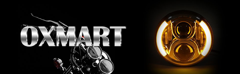 Amazon.com: OXMART 7'' LED Headlight Angel Eye Projector ... on
