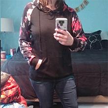 womens hoodies casual floral hoodie fashion floral sweatshirt women hoodies for winter long sleeve