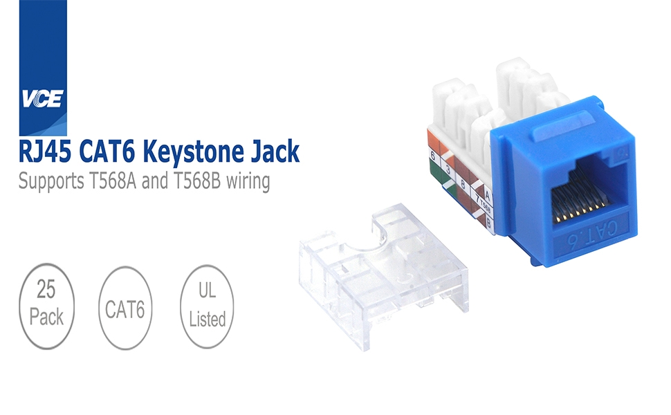 RJ45 Cat6 Keystone Jack