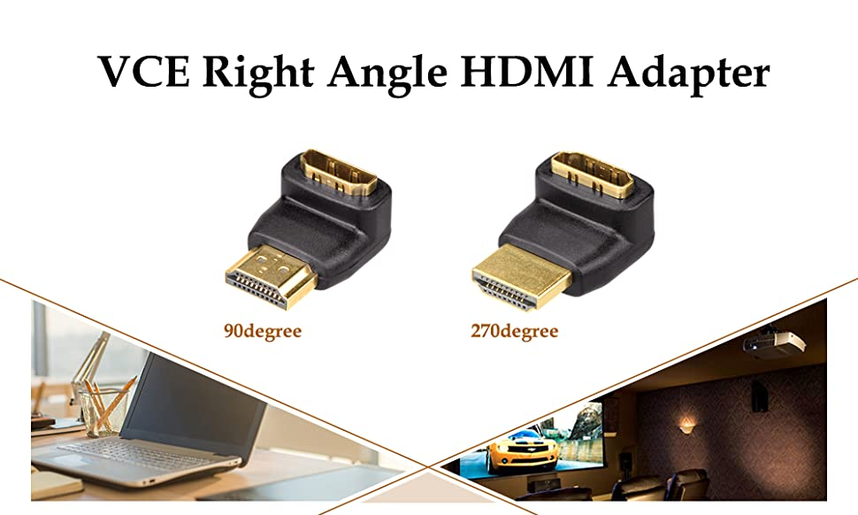 Right Angle Male to Female Adapter
