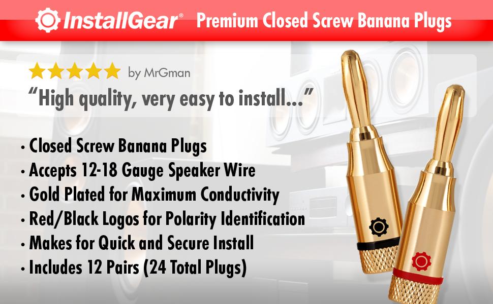 banana plugs speaker wire