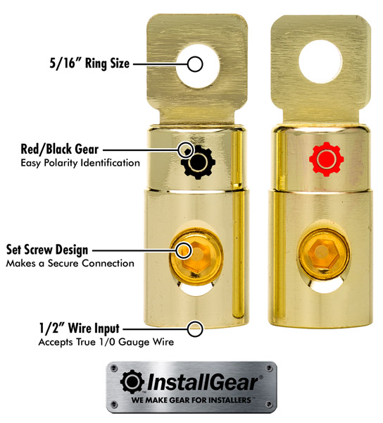 RV and Boat Use Glarks 8Pcs Gold Car Battery Terminal Connectors Kit 4Pcs Copper Wire Ring lugs and 2Pcs 0//2//4//8//10 Gauge Negative Positive Battery Terminals with Shims and Covers for Car Vehicle