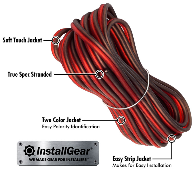 [DIAGRAM_3ER]  Amazon.com: InstallGear 16 Gauge 17ft Speaker Wire True Spec and Soft Touch  Cable: Car Electronics | Touch Audio Wiring |  | Amazon.com