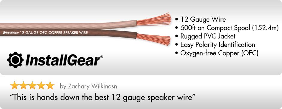 Amazon.com: InstallGear 12 Gauge Speaker Wire - 99.9% Oxygen-Free ...
