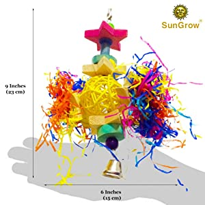 Size and dimensions of the Shredder Bird Toy bu SunGrow