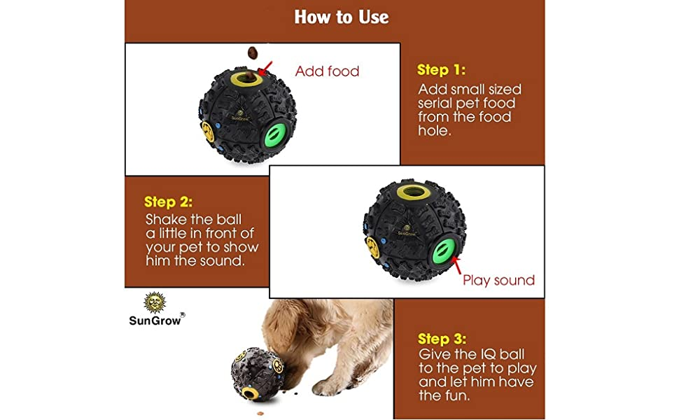 How to use the food dispenser ball