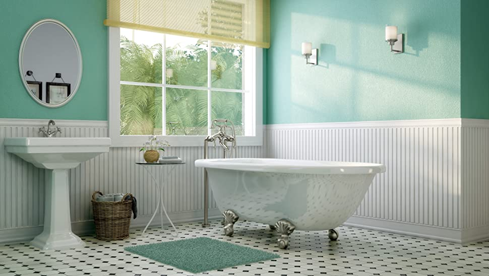 Luxury 60 inch Clawfoot Tub with Vintage Tub Design in White ...