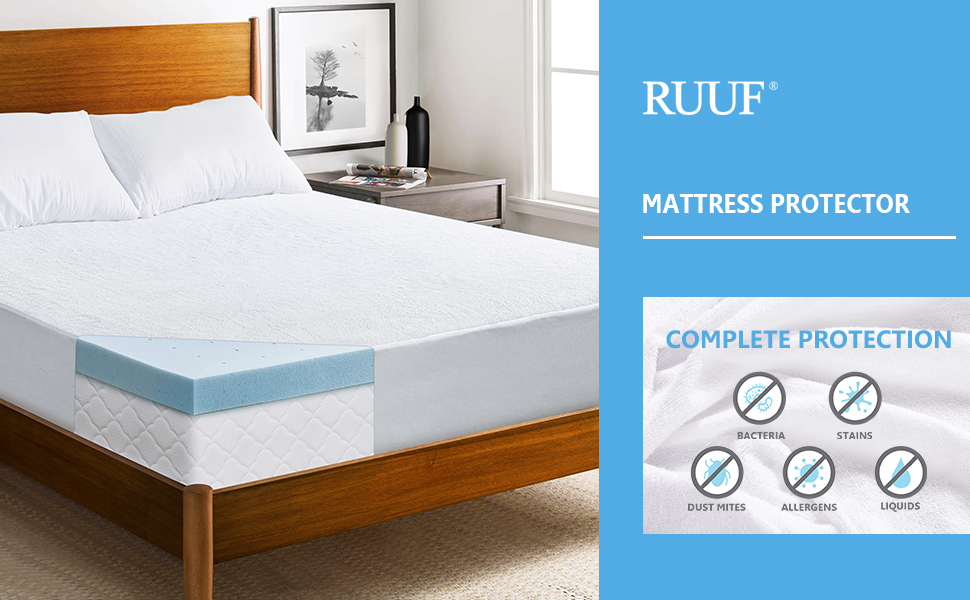 Amazon.com: RUUF Queen Size Mattress Protector, Premium ...