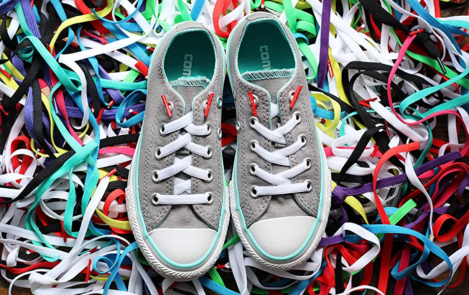 cea1eb6a9a00 Amazon.com  Laceez No Tie Shoelaces - Turn Shoes to Slip ons ...