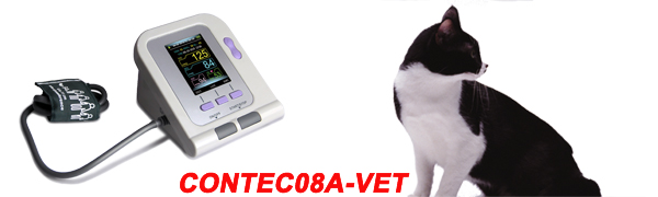 CONTEC08A-VET is an Electronic Sphygmomanometer that can measure blood pressure for animals.