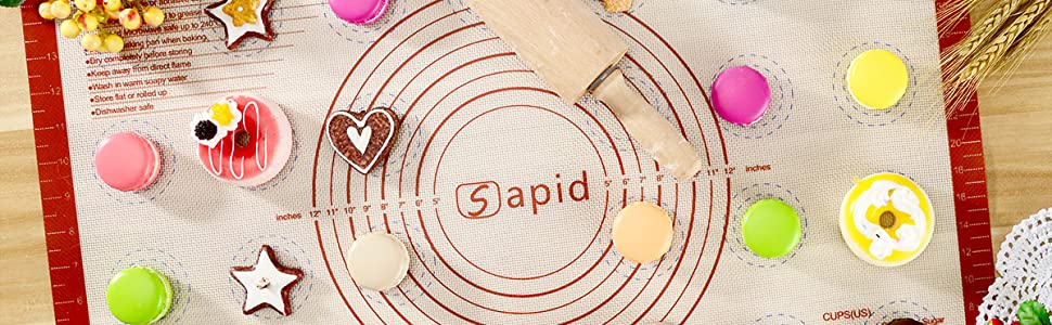 Why Choose The SAPID Silicone Pastry/Baking Mat!