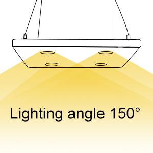 large lighting angle