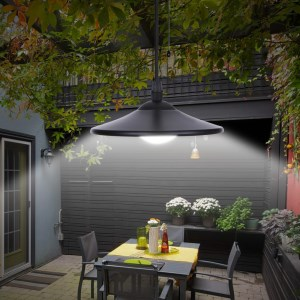 Tomshine 3w Solar Powered Pendant Light Outdoor Hanging