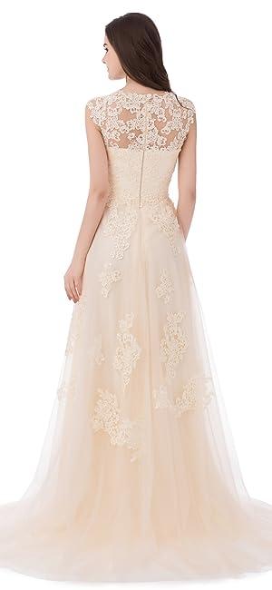 Asa Bridal Women S Vintage Cap Sleeve Lace A Line Wedding Dresses