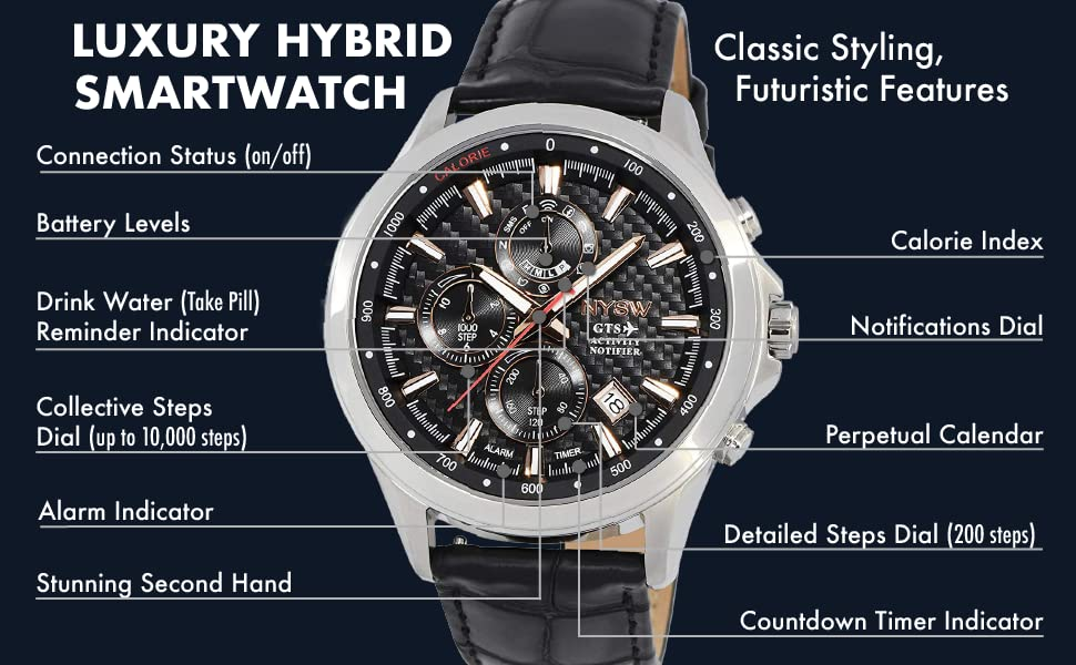 Luxury Hybrid Smartwatch. Classic Styling, Futuristic Features.