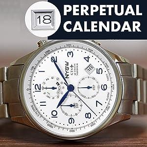 NYSW WATCH-PERPETUAL CALENDAR