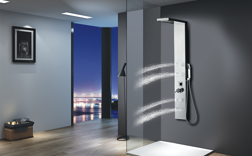 Vantory Stainless Steel Shower Panel Tower System, 8K Mirror ...