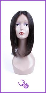 13x4 Lace Front Wigs Straight Hair Glueless Short 150% Density U-Part Wigs Faddishair