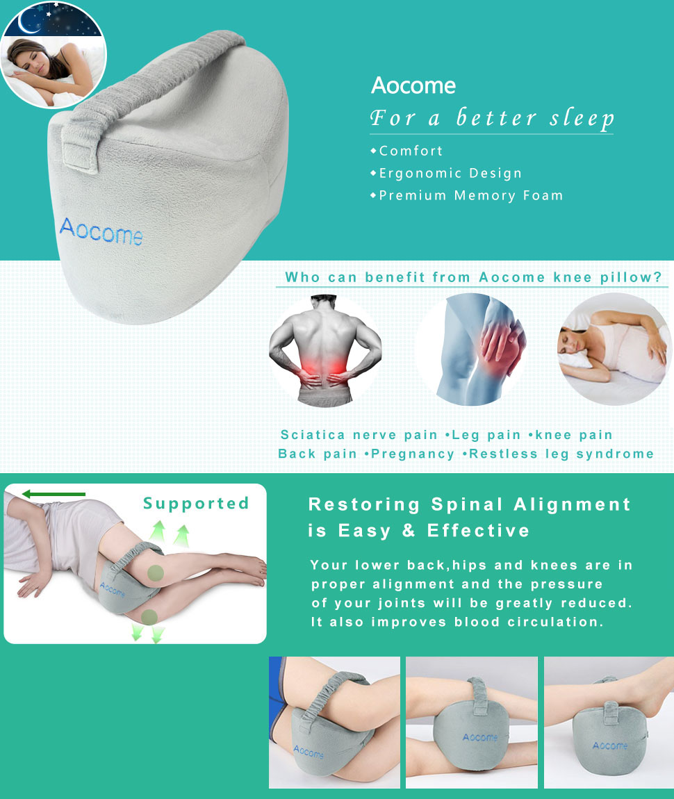 Amazon Com Aocome Knee Pillow For Side Sleepers