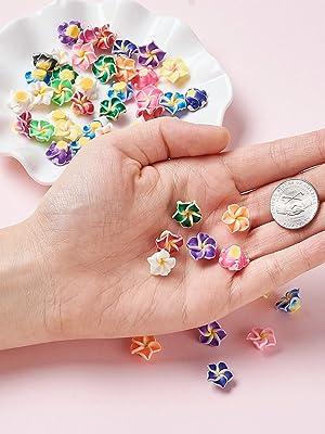 Arcilla Polimérica hecha a mano 3D Flor Plumeria Beads Mezclados Color 12 ~ 30 mm