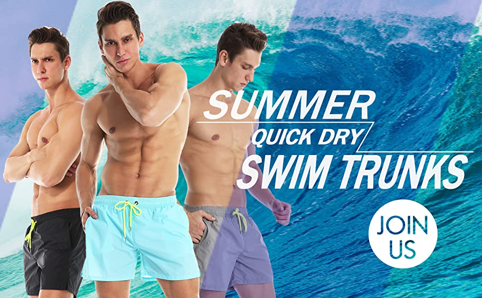 Jimmy-Johns-Logo Mens Swimming Trunks Adjustable Absorbent Beach Shorts Medium LengthSportwear Shorts Mesh Lining