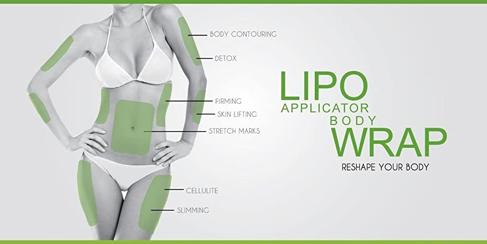 Amazon ultimate body wrap lipo applicator kit 6 wraps and product description solutioingenieria Choice Image