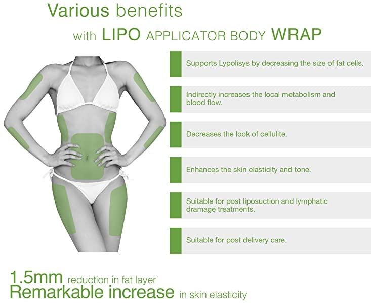 Amazon ultimate body wrap lipo applicator kit 6 wraps and ideal for women and man who desire a beautiful shape and firm body solutioingenieria Image collections